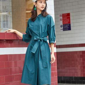 小立领A型连衣裙602028097常规连衣裙通勤2020春夏三波
