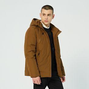 艾莱依2018冬季新品专柜同款绅士简约短装羽绒服601844017