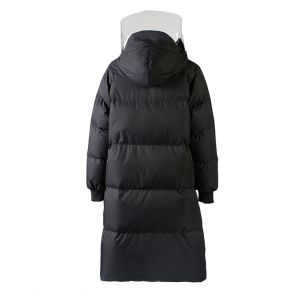 艾莱依2018冬季新品专柜同款透明塑胶拼接大衣羽绒服601801123