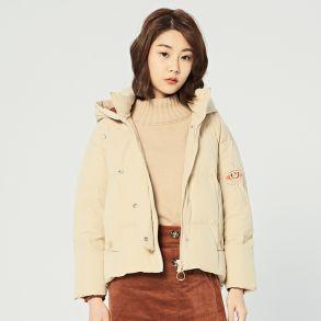 艾莱依2018冬季新品羽绒服专柜同款荷鲁斯之眼短装601804032