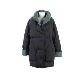双领随性大衣 女羽绒短大衣 都市摩登 601901290 艾莱依 19冬季