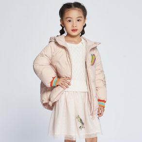 艾莱依2017冬季小马宝莉联名系列羽绒服童装外套菱格印花可爱617102143